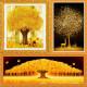 황금금전수/3D 재물나무 보석십자수/원형/큐빅/십자수