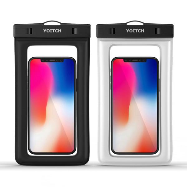 1+1 핸드폰 휴대폰 방수팩 레릭 - 블랙+화이트 상품이미지