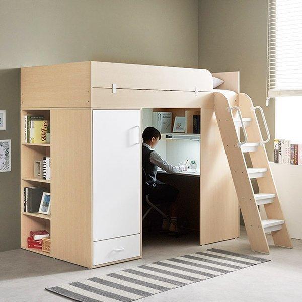이스마트 하우스 벙커형 독서실책상 풀세트 상품이미지