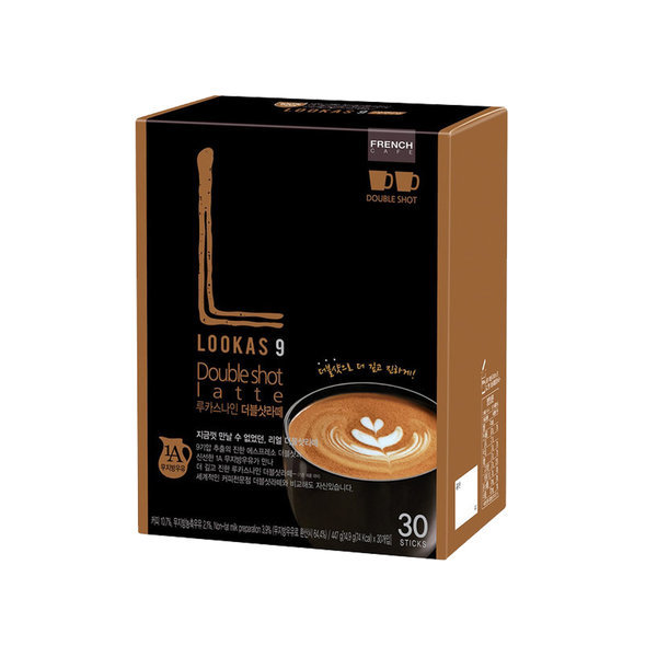 루카스나인 더블샷라떼 30T/ 커피믹스 상품이미지
