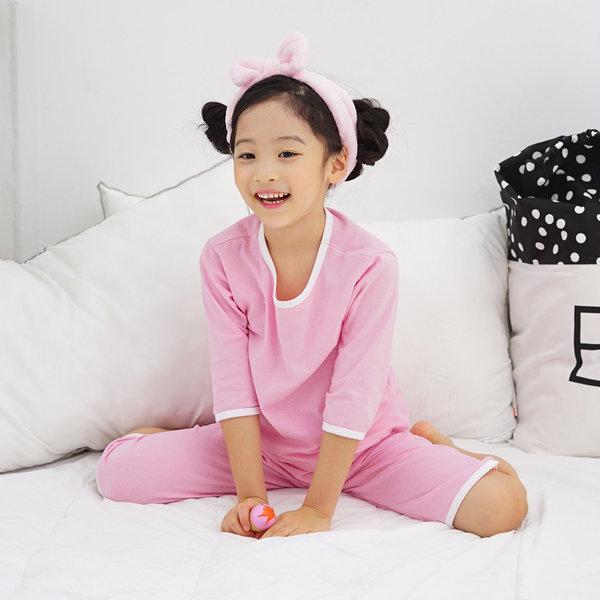 유아 키즈 아동 7부 민소매 실내복 잠옷 상하 세트 상품이미지