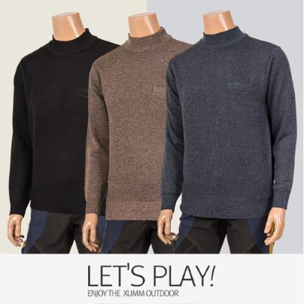 (AK몰)(엑슘)(마운틴가이드)겨울 등산복 남성용 티셔츠 반목폴라 니트 터틀넥 남성의류 PTM-T6432 상품이미지