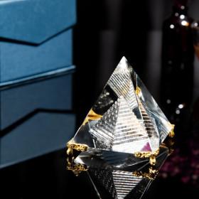 크리스탈 피라미드 집들이 선물 인테리어 장식품 행운