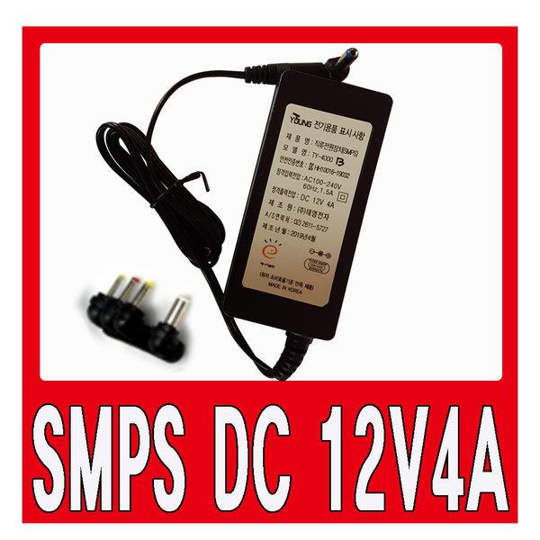 SMPS  DC 12V4A 직류전원장치 코드별도태영아답타 상품이미지
