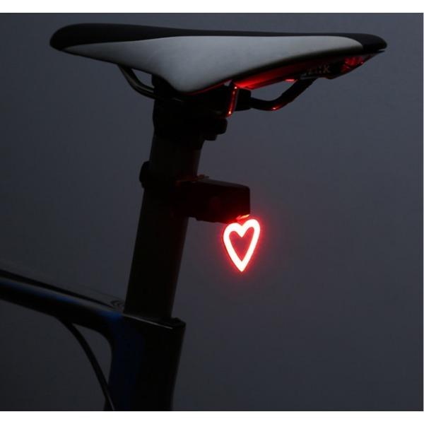 자전거 후미등 충전식 LED 후미등 MTB후미등(하트) 상품이미지