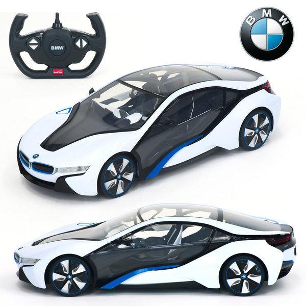 1:14 라이센스 정품 BMW   i8 화이트 RC카/무선자동차 상품이미지