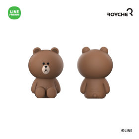 LINE FRIENDS Monitor Figure BROWN