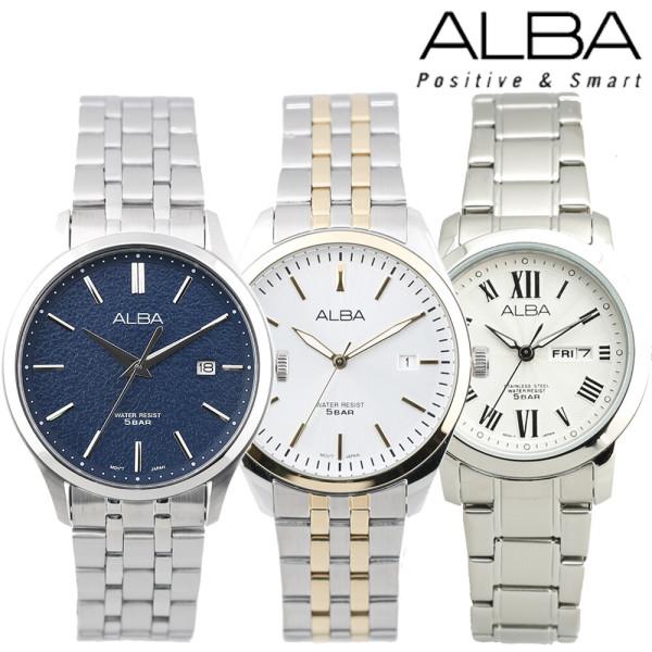세이코 알바 정품 50M 방수 남성/여성 커플 손목시계 상품이미지