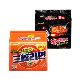 삼양라면 멀티(5봉)+불닭볶음면 멀티(5봉)