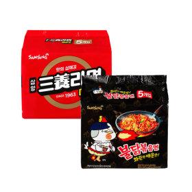 삼양라면 매운맛 멀티(5봉)+불닭볶음면 멀티(5봉)