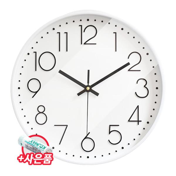 모던올화이트/인테리어 무소음 벽 시계 사무실 벽걸이 상품이미지