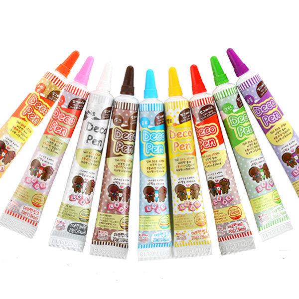 초코펜 데코펜 9가지 색상 초콜릿 diy 상품이미지