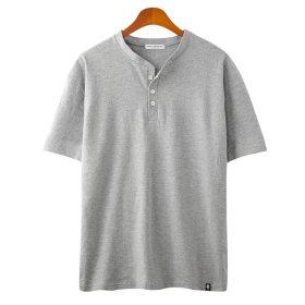 버튼 반팔 여성 티셔츠 / 오버핏 커플 반팔티 GT3152