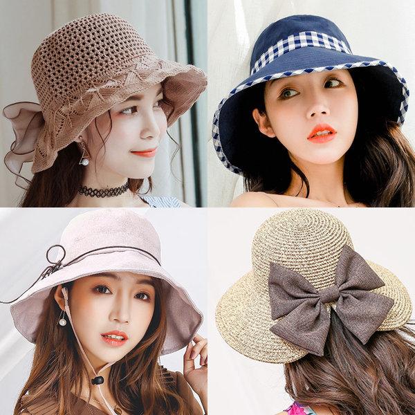 여성 여자 봄 여름 가을 자외선 햇빛 차단 등산 모자 상품이미지