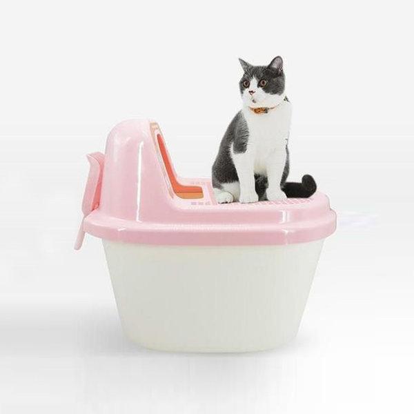 신개념 탑도어 고양이화장실 사막화 방지 매쉬망설계 상품이미지