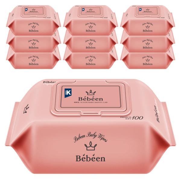 베베앙 아기물티슈  시그니처 대용량 100매 캡형 10팩 상품이미지