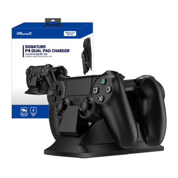 PS4 시그니처 듀얼 패드 차저 / 듀얼쇼크4 충전거치대 상품이미지