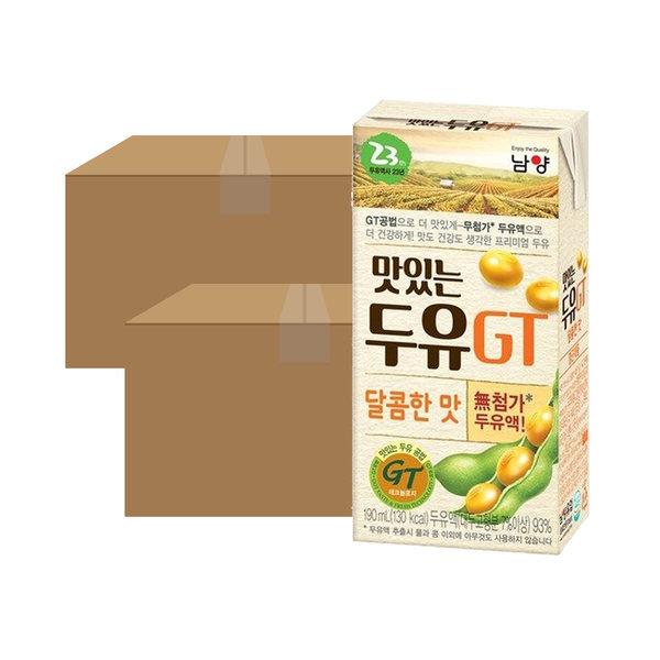 맛있는 두유 GT 달콤 190ml 48입 상품이미지