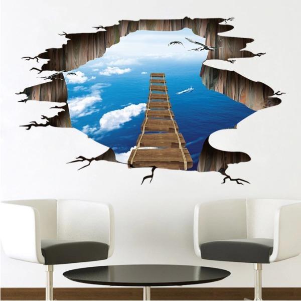 3D 바닥스티커 우주 벽지3D 포스터 바닥스티커 상품이미지