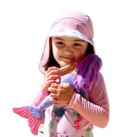 UV차단 유아동 수영모자 플랩햇 수영모자