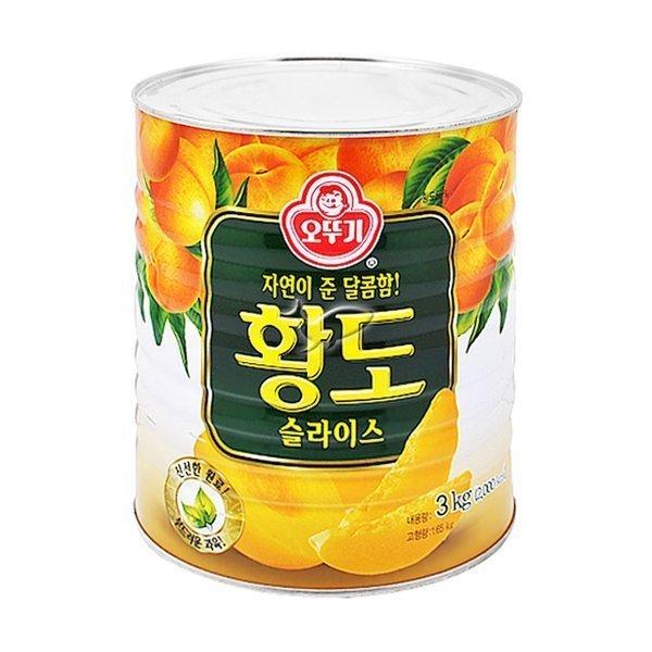 오뚜기 황도 슬라이스 3kgx6캔/1박스 상품이미지