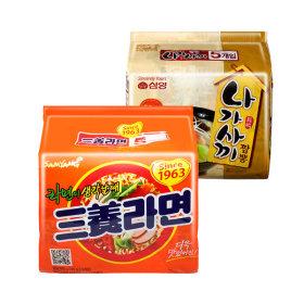 삼양라면 멀티(5봉)+나가사끼 짬뽕 멀티(5봉)
