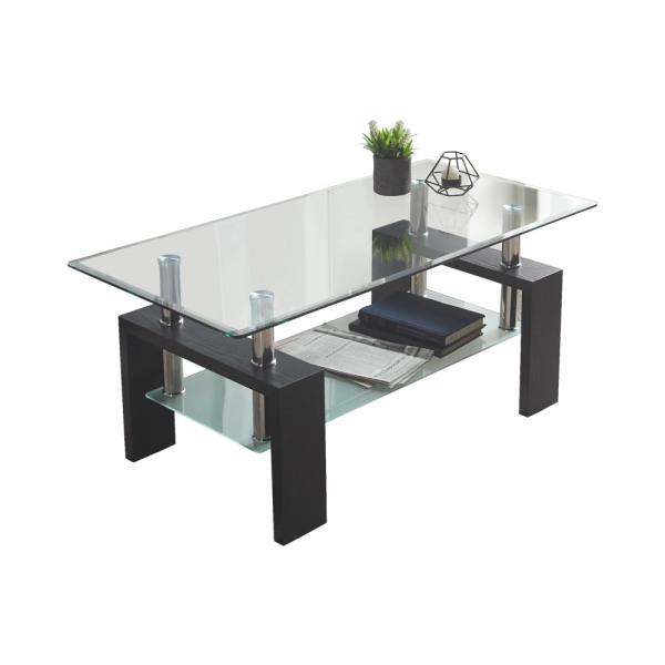 로디 거실테이블/ 거실 선반 테이블/ 강화유리 탁자 상품이미지