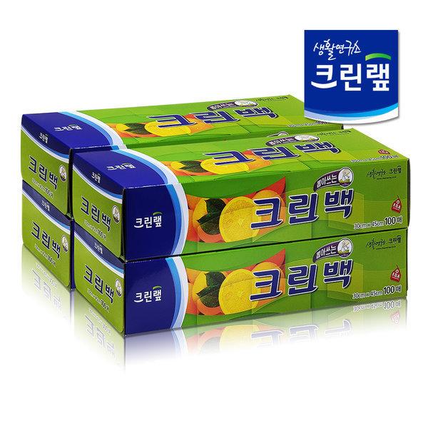 크린랩 크린백(대) 100매 4개 /고무장갑/위생장갑/롤백 상품이미지