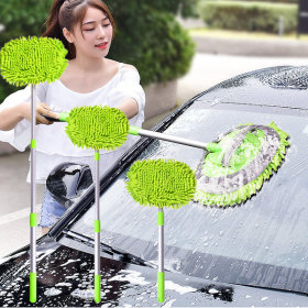 3단 길이 조절 세차 밀대 막대 대걸레 청소 SUV 용품