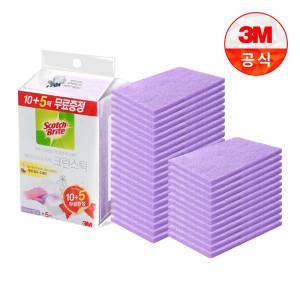 [3M]크린스틱 욕실청소 시트타입 베이킹소다톡톡10+5입 2개
