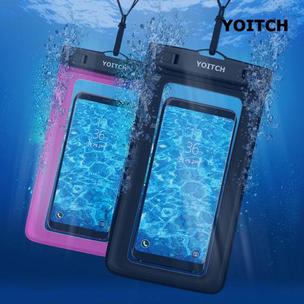 1+1 로즈핑크+블랙 핸드폰 휴대폰 방수팩 레릭 10m방수 상품이미지