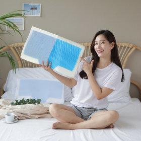 쿨젤 3D매쉬 메모리폼 경추베개