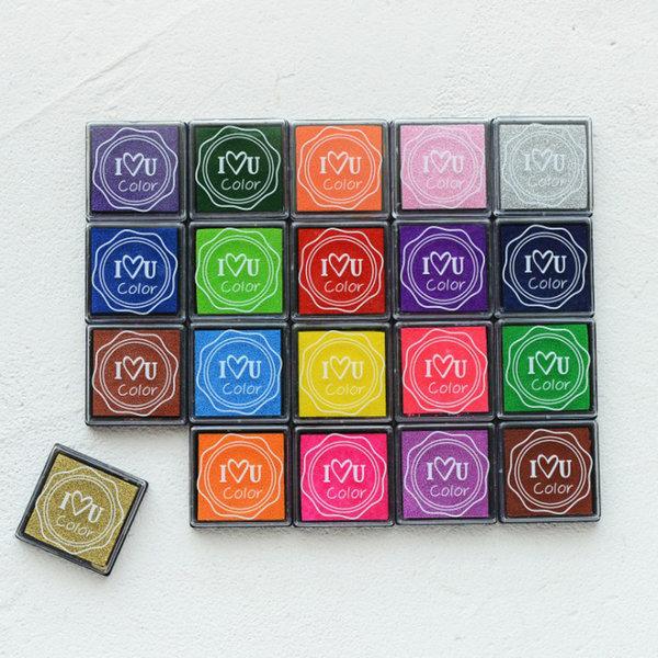 20색 세트 컬러풀 핑거프린트 스탬프 잉크패드 KWK01 상품이미지