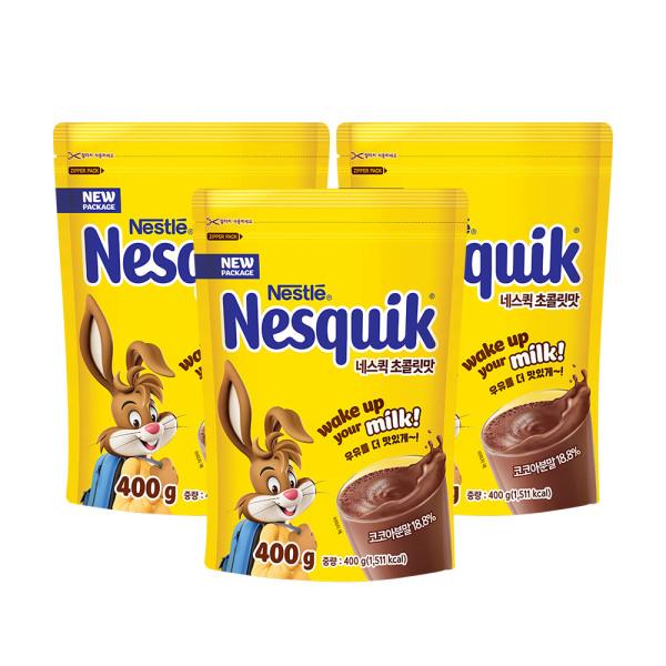 네스퀵 초콜릿맛 지퍼백 400g x 3봉/코코아/초콜릿 상품이미지