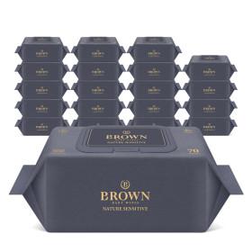 브라운 아기물티슈 네이처 센시티브 70매 캡형10+10팩