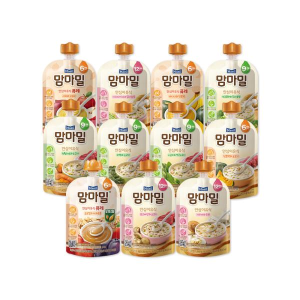 맘마밀 표고버섯소고기 100g 10팩/이유식 상품이미지