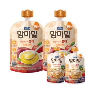 [매일유업]맘마밀 사과와고구마 100g 10팩/이유식
