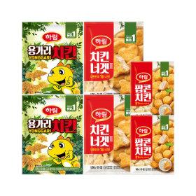 용가리치킨 300g 2봉+치킨너겟 300g 2봉 +팝콘치킨 2봉