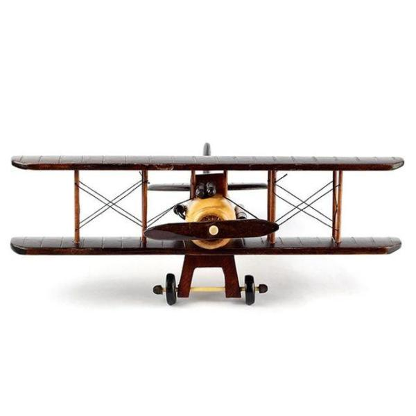31cm 앤틱 원목 모형 비행기 집들이선물 인테리어용 상품이미지