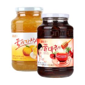 담터 꿀유자차A 1kg+ 꿀대추차1kg