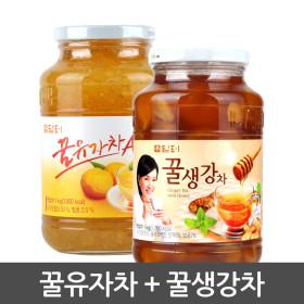담터 꿀유자차A 1kg+ 꿀생강차1kg
