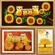 황금 부엉이 보석 큐빅 비즈 DIY 십자수 5D 원형비즈