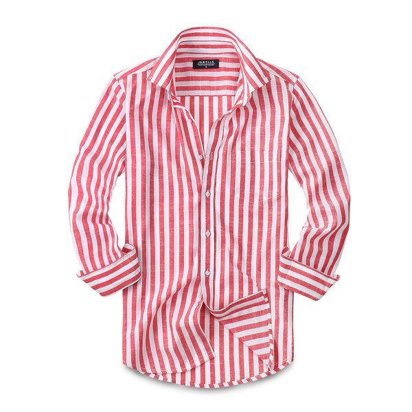 린넨 스트라이프 셔츠 남방 남자셔츠 남성셔츠 158 상품이미지