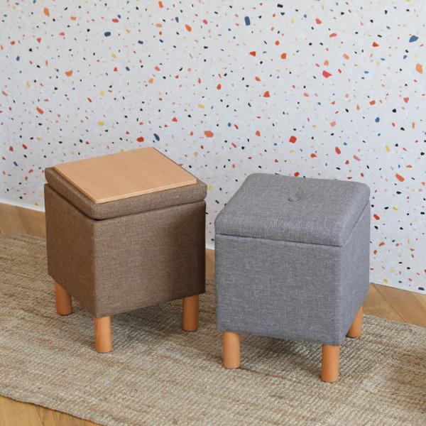루니 수납 스툴 30 화장대의자 거실 디자인 공간박스 상품이미지