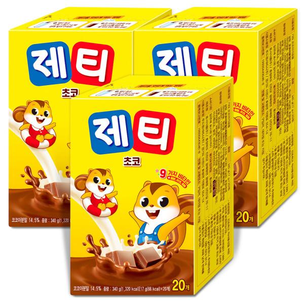 제티 초코렛맛 20Tx3개 총60T/초코분말/초코/코코아 : 상품이미지