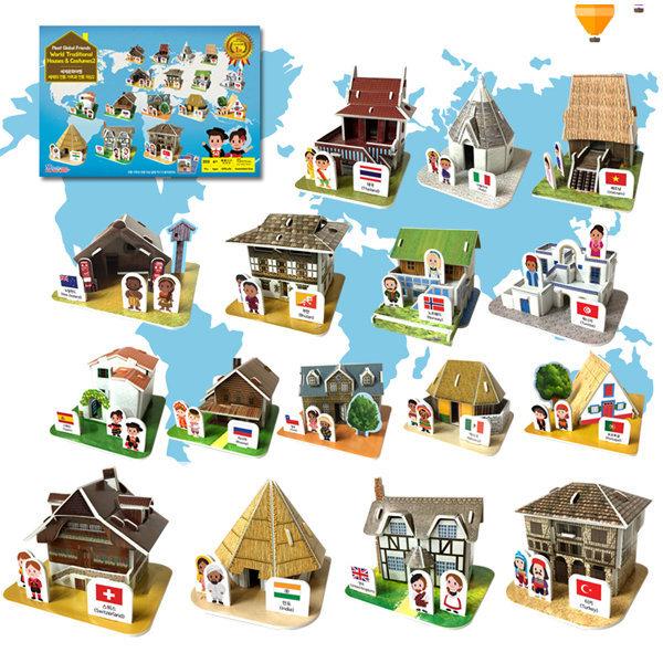 세계의전통가옥과전통의상2/뜯어만드는세상/입체퍼즐 상품이미지