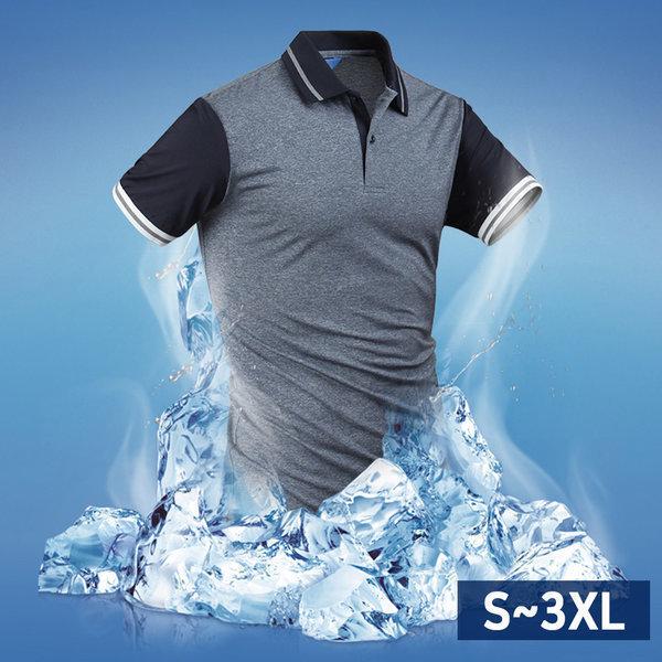 남자 반팔 카라티셔츠 클리브에어로쿨카라티 tp1343 상품이미지