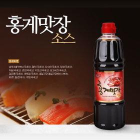 홍일식품 홍게맛장소스 900ml 천연조미료 프리미엄간장