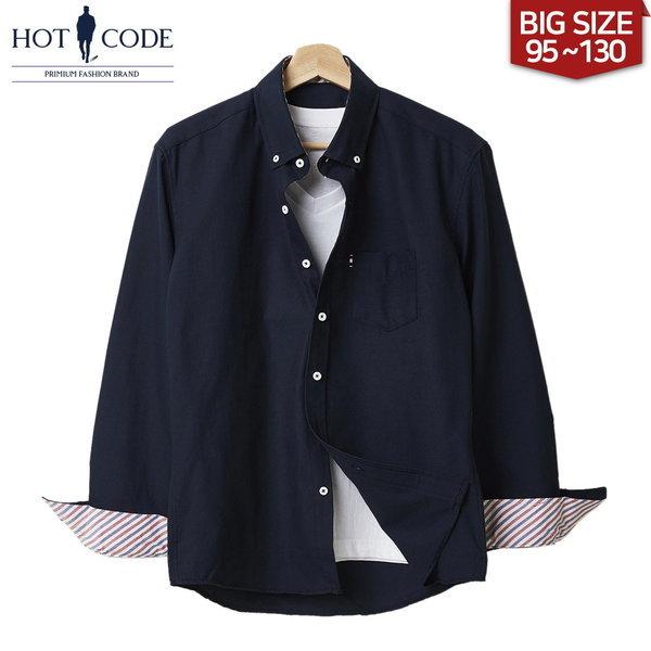 95-130 남자 빅사이즈 네이비 셔츠 남방 옷 행사 HC107 상품이미지