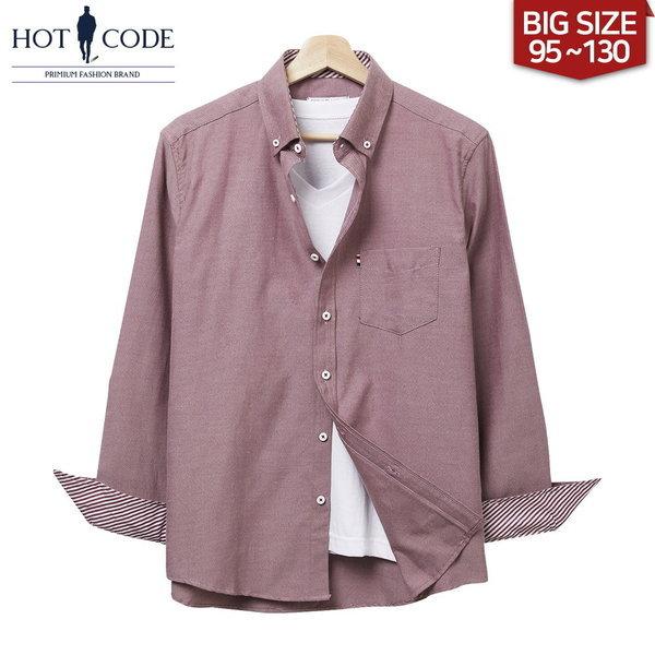 95-130 남자 빅사이즈 레드 셔츠 남방 옷 행사 HC102 상품이미지